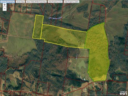 192 Acres, Pasture, Timber, Hunting : Huntingdon : Carroll County : Tennessee