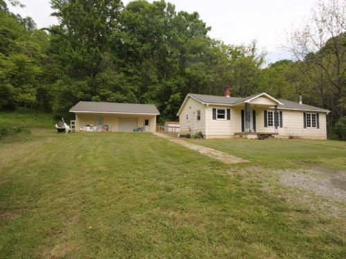 27.489 Acres W/ Home : Independence : Grayson County : Virginia