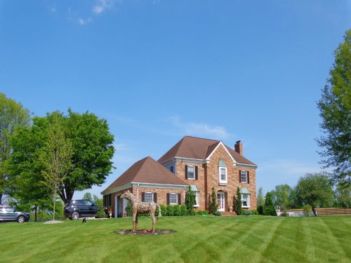 52+/- Acre Farm With Brick Colonial : Hamilton : Mercer County : New Jersey