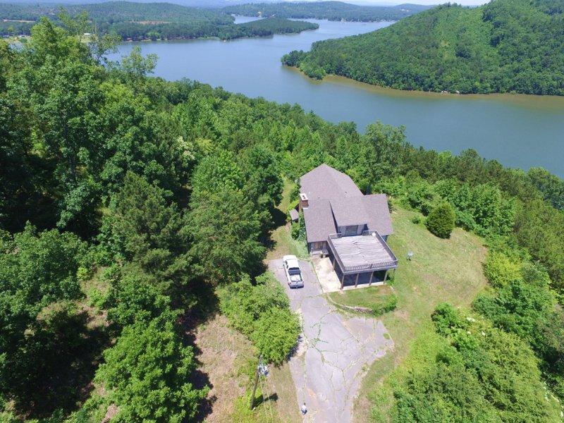 96 Ac Cabin, Waterfront, Mtn Views : Ashville : Saint Clair County : Alabama