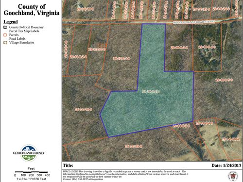 21.5 Wooded Acres : Goochland : Virginia