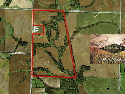 185 Ac - Farm With Income & Hun : Sharpsburg : Taylor County : Iowa
