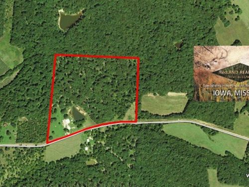 32 Ac Log Home On 32 Wooded Acres : Stover : Morgan County : Missouri