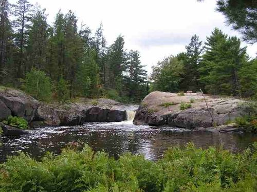 Waterfalls, Voelker 1112447 : Ishpeming : Marquette County : Michigan