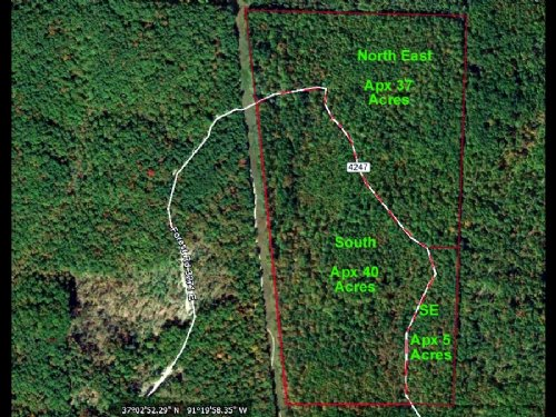 40 Acre Property In Mark Twain Nat : Winona : Shannon County : Missouri