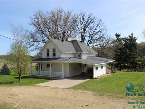 Recently Updated Home With Hunting : Mondovi : Eau Claire County : Wisconsin