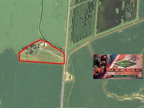 10.9 Ac, Home And Acreage Near Gre : Vidalia : Concordia Parish : Louisiana