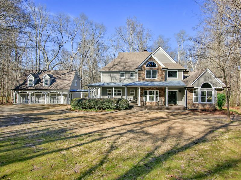 Stunning, Custom Home On 12 Acres : Auburn : Barrow County : Georgia