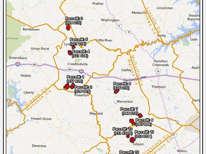 Multi-County Land Package : Lexington : Oglethorpe County : Georgia