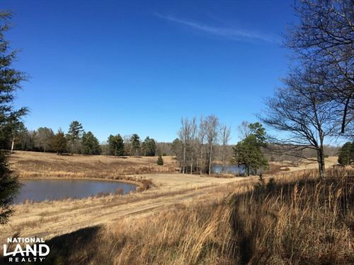 Rolling Open Land With Ponds : Union : South Carolina