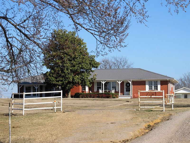 320 Acre Working Ranch And Home : Mill Creek : Johnston County : Oklahoma