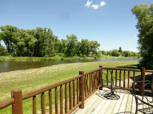 Magnificent Riverfront Retreat : South Fork : Rio Grande County : Colorado