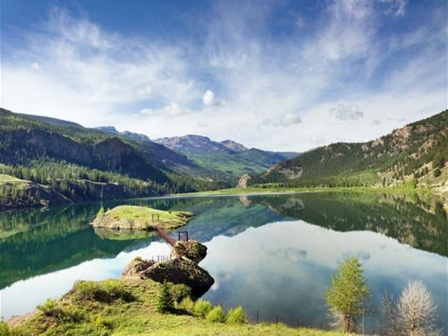 Lake San Cristobal Island : Lake City : Hinsdale County : Colorado