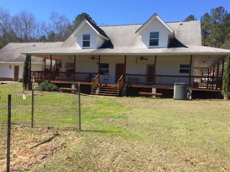 31.45 Acres With Custom Home : Thomaston : Upson County : Georgia