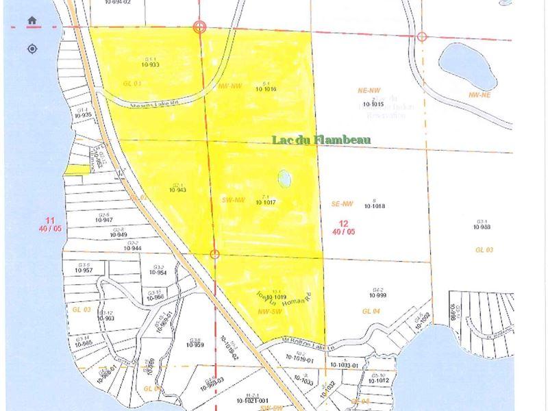 Rare Large Acreage Parcel : Lac Du Flambeau : Vilas County : Wisconsin