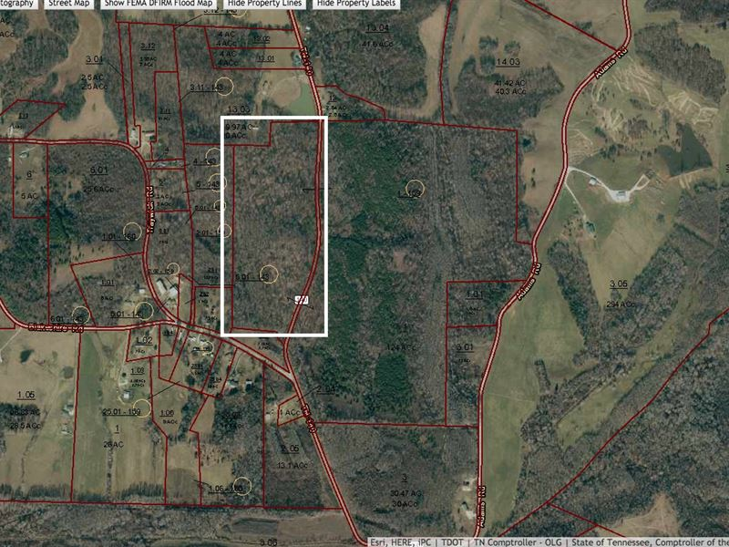 29.83 Acres, Road Frontage, Creek : Highway 140 S : Henry County : Tennessee