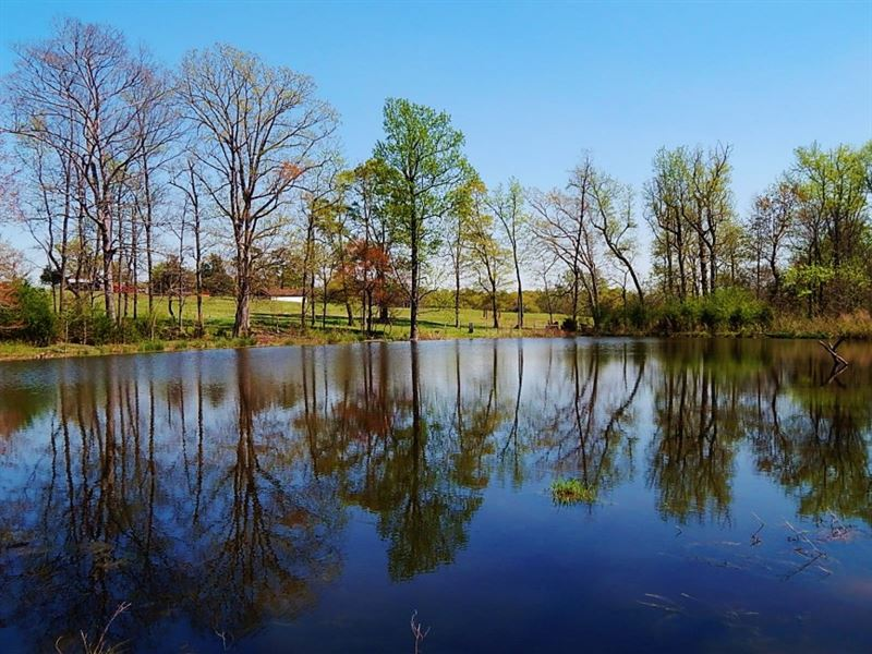 Pasture & Pond. Reduced. : Danielsville : Madison County : Georgia