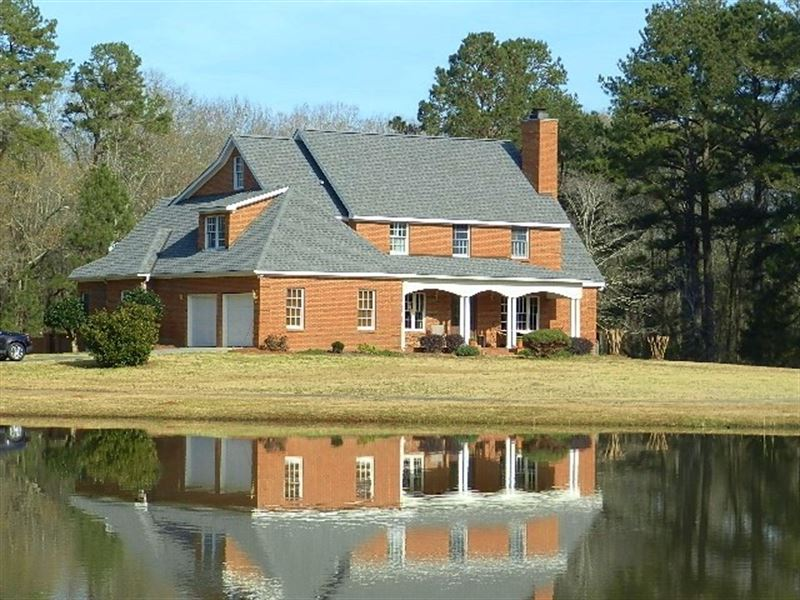 Country Estate Home On 12 Ac Lake : Hayneville : Houston County : Georgia