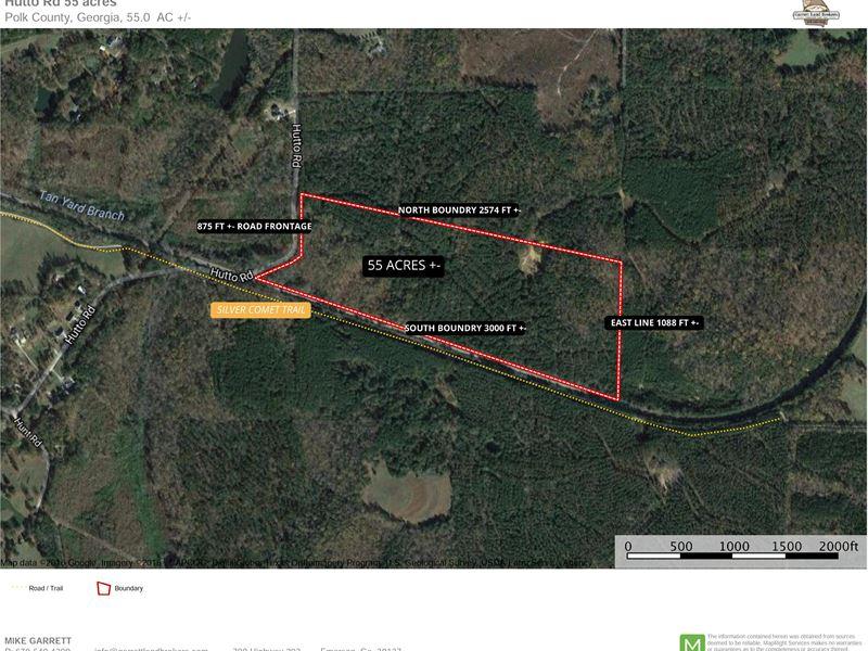 Heavily Wooded 55 Acres On Hutto Rd : Cedartown : Polk County : Georgia