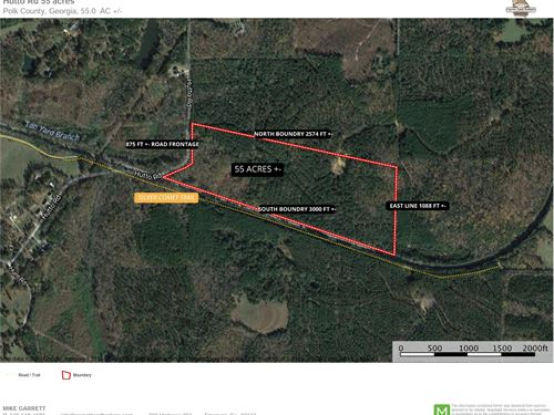 Heavily Wooded 55 Acres On Hutto Rd : Cedartown : Polk County : Georgia