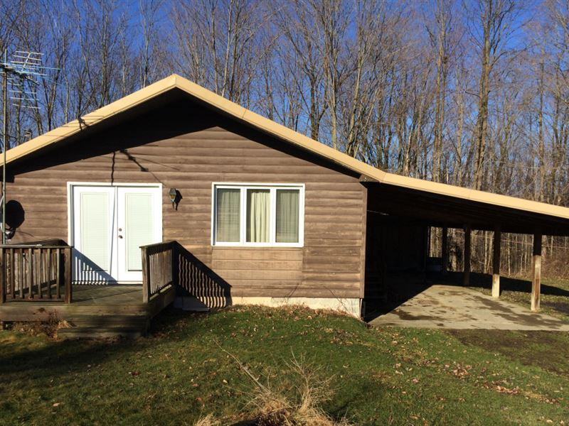 House On 54 Acres Near Allen Lake : Allen : Allegany County : New York