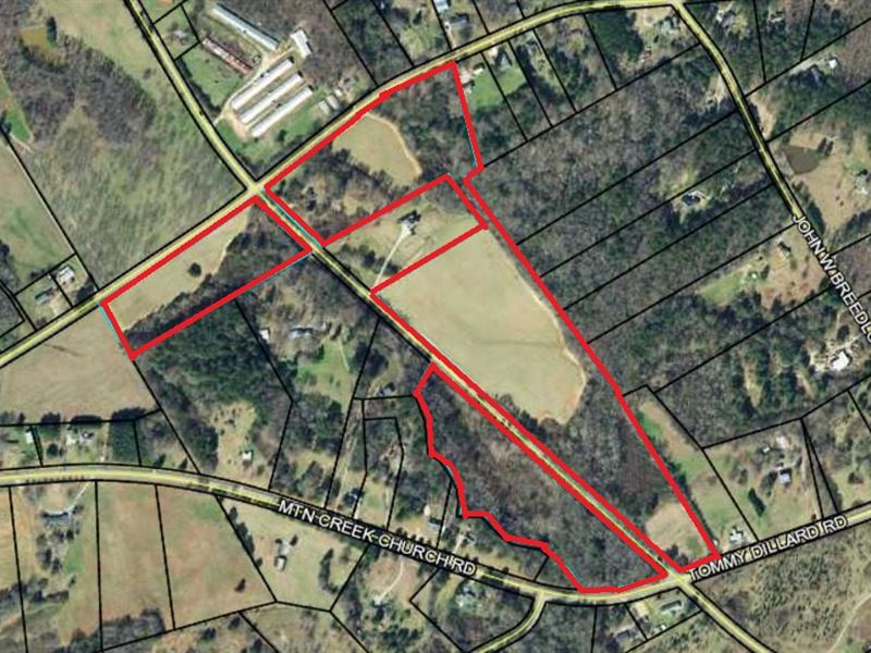 43.38 Acres W App 7,404 Rd Frontage : Monroe : Walton County : Georgia