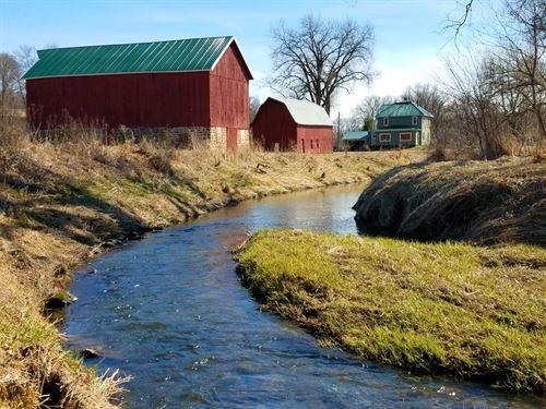 Country Home W/ Class 1 Trout Fish : Cazenovia : Richland County : Wisconsin