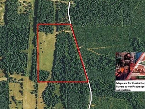 30 Ac Pasture & Wooded Tract W : Bastrop : Morehouse Parish : Louisiana