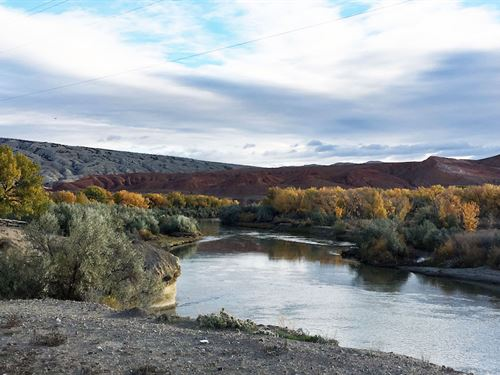 Big Horn River Bend : Greybull : Big Horn County : Wyoming