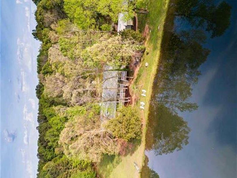 Home On 45 Acres W/Lake & Apartment : Madison : Morgan County : Georgia