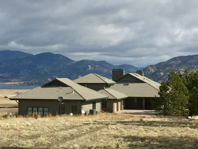 Eleven Mile Executive Home : Guffey : Park County : Colorado