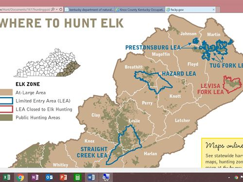 Elk Hunting Region 900 Acres : Manchester : Clay County : Kentucky