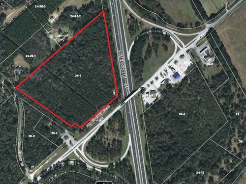 22.85 Ac Commercial - I-75 Frontage : High Springs : Alachua County : Florida