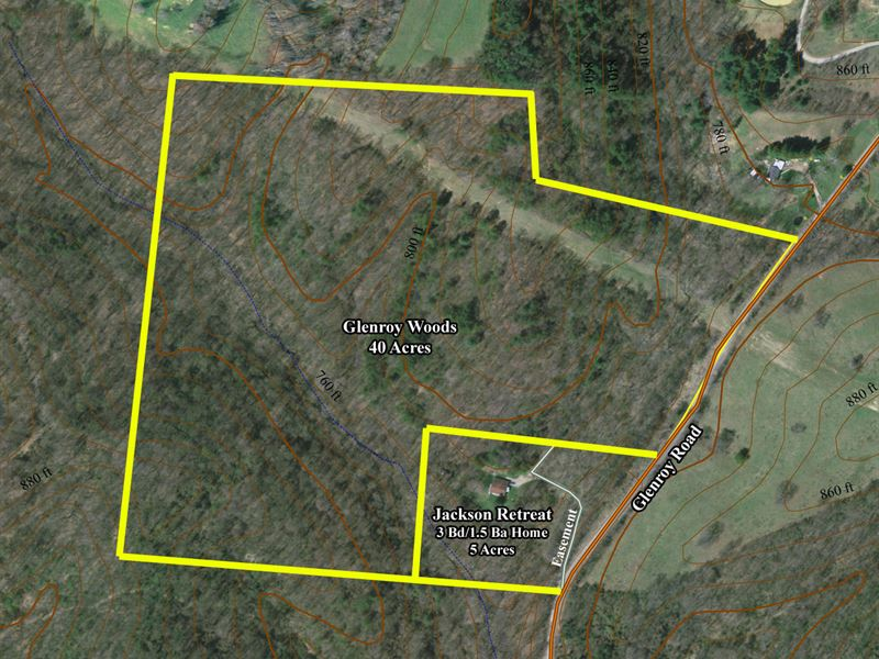 Beautiful Wooded 40 Acres : Wellston : Jackson County : Ohio