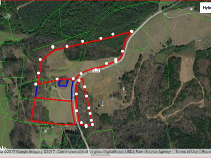 22 Acres On Hawkins Rd : Chatham : Pittsylvania County : Virginia