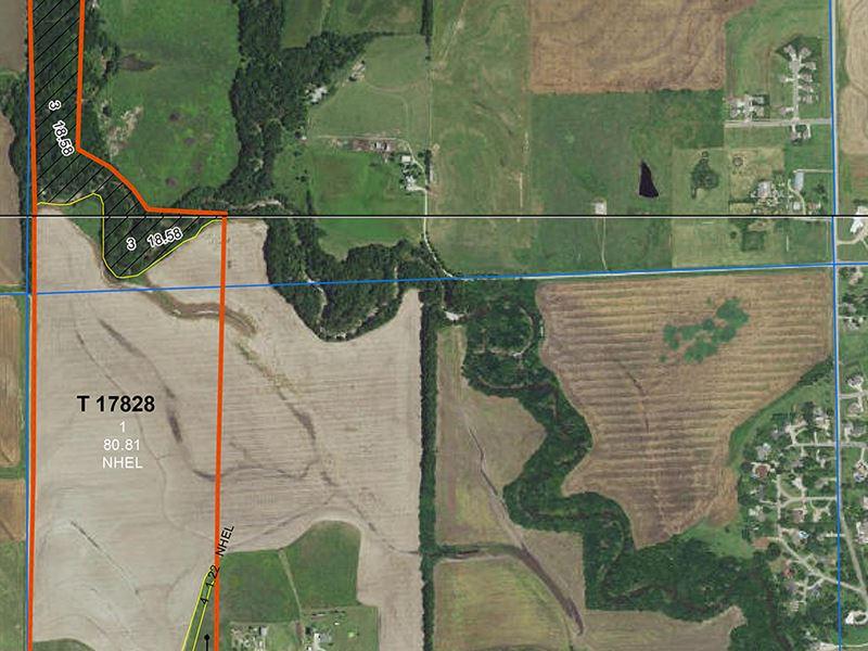 Hunting Along Slate Creek, Cropland : Wellington : Sumner County : Kansas