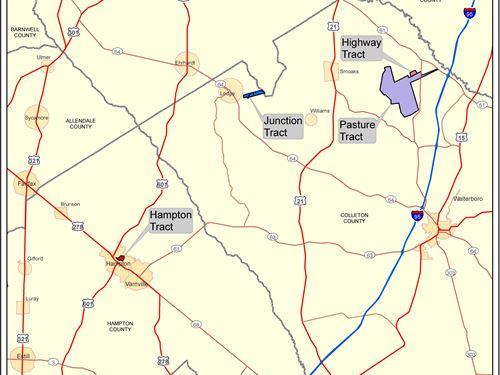 5031 Acres - Sealed Bid Sale : Smoaks : Colleton County : South Carolina