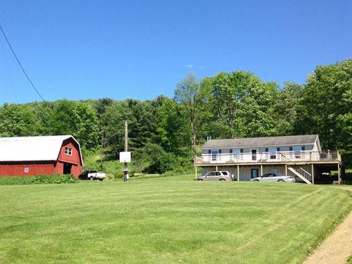 20 Acres House Barn Cortland Ny : Willet : Cortland County : New York