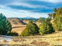 Mountain Homesite With Power & View : Weston : Las Animas County : Colorado
