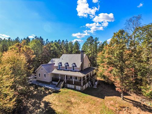 128 Ac. With 3,600 Square Foot Home : Cowpens : Cherokee County : South Carolina