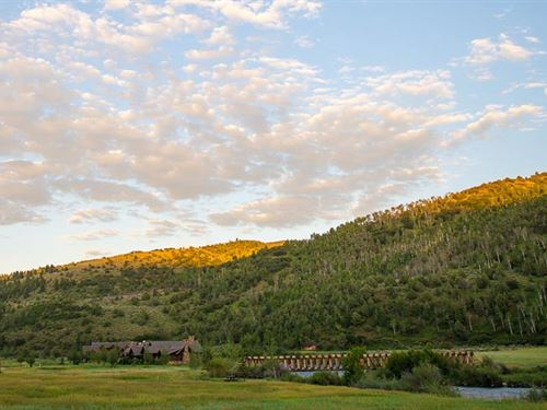 Stream View At Elk Creek Ranch : Meeker : Rio Blanco County : Colorado