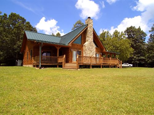 Log Home And Large Acreage W/ Views : Troutdale : Grayson County : Virginia