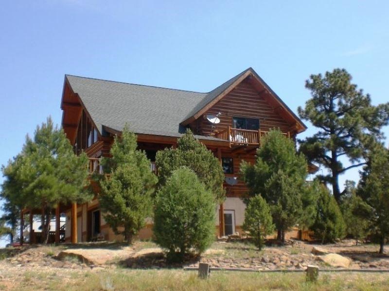 Custom Log Home Ranch For Sale Aguilar Las Animas