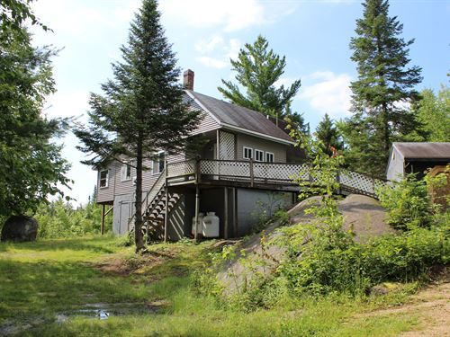 Long View Cabin & Private Acreage : Upper Enchanted Township : Somerset County : Maine