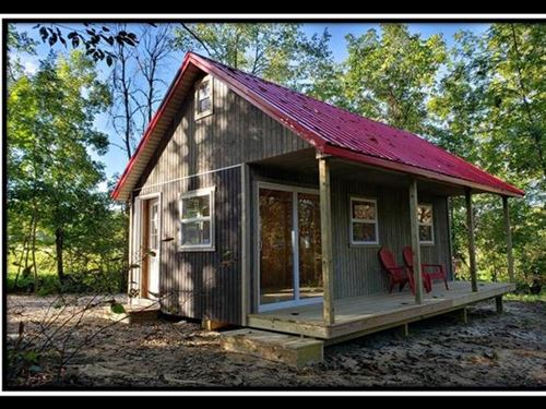 Cabin On The River : Long Bottom : Meigs County : Ohio