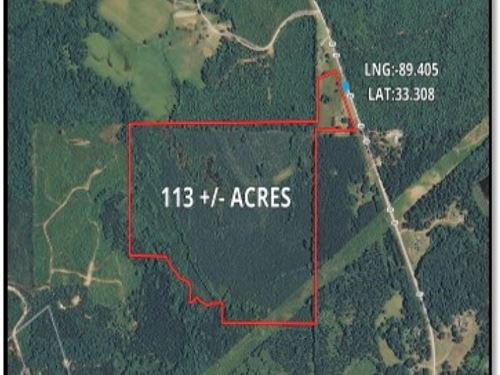 113 Acres In Choctaw County : French Camp : Choctaw County : Mississippi