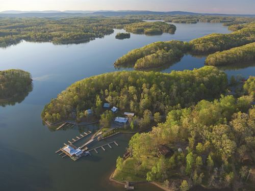 Lakefronts Up To 74 Acres : Seneca : Oconee County : South Carolina