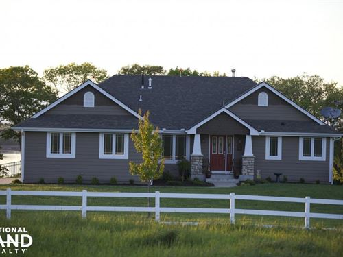 Lecompton Custom-Built Home & Acrea : Lecompton : Douglas County : Kansas
