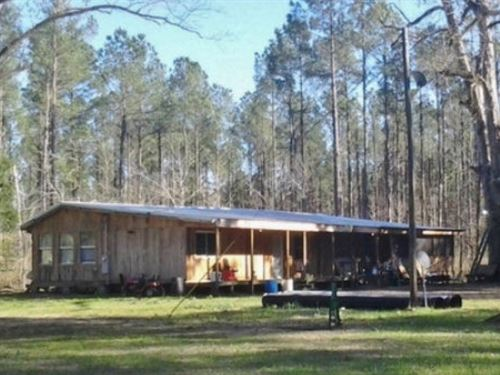 Turnkey 710 Acres With Camp Lawr : Sontag : Lawrence County : Mississippi