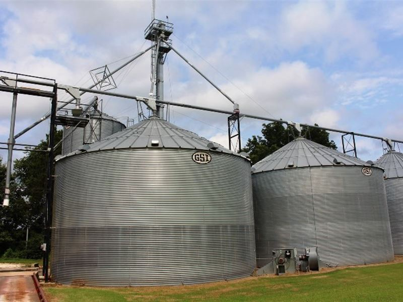 Grain Prcss Drying Storage Facility Ranch For Sale